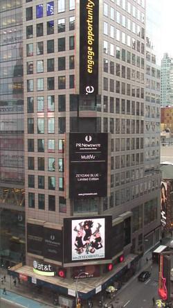 ZEYZANI Blue in Times Square, NY