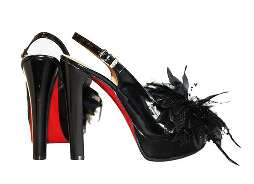 Patent Leather Feather - Pumps