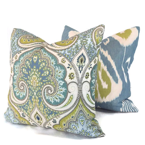 One of a kind Ikat Pillow Set