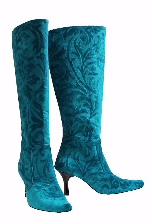 Turquoise Green - Kitten Heel
