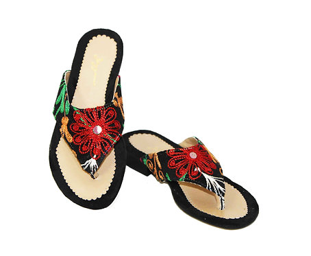 One of a Kind Suzani - Flip Flops