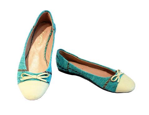 Blue Leather Toe - Babette