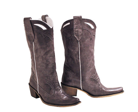 Plum Derby Leather - Pull On Cowboys