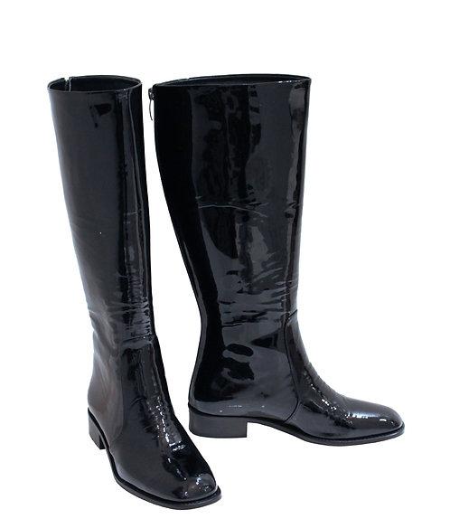 Black Patent Leather - Riding
