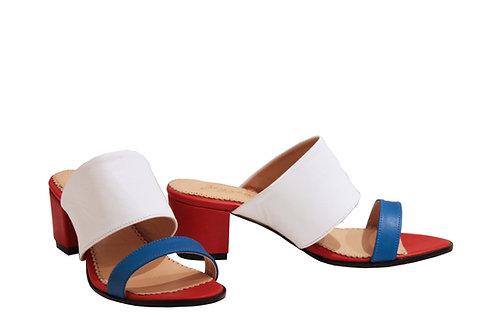 Patriotic Leather - Mule Sandals