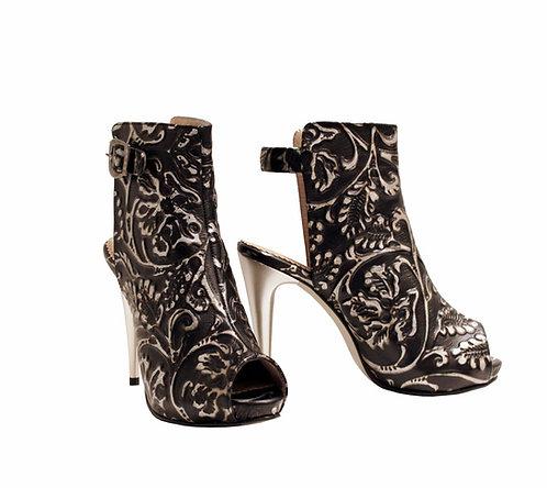 Midnight Jasmine Leather - Stiletto