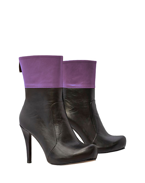 Black Purple Leather - MC Stiletto
