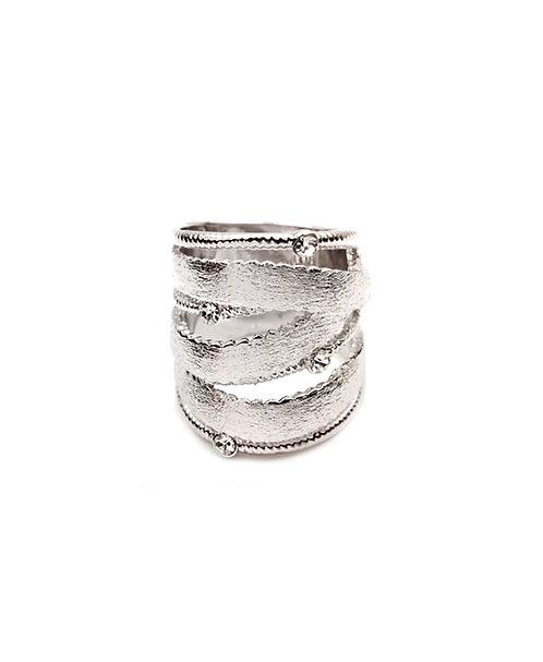 Trendy White Gold Ring