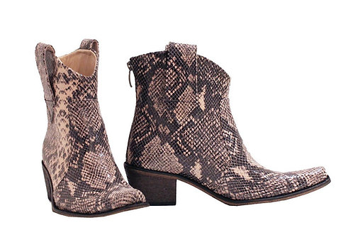 Taupe Python Leather - ANK Cowboys