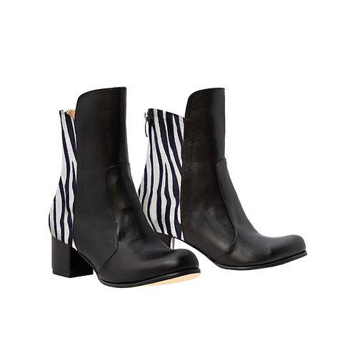 Zebra Back Leather Front - ANK Block