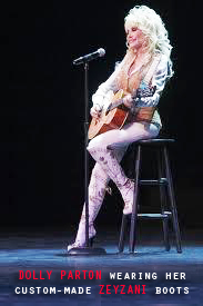 Dolly Parton in custom Zeyzani Boots