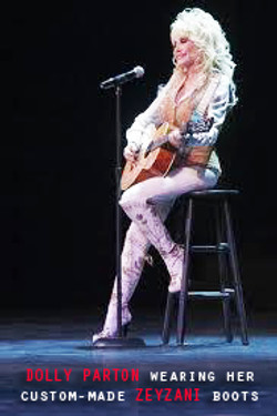 Dolly Parton in custom Zeyzani Boots