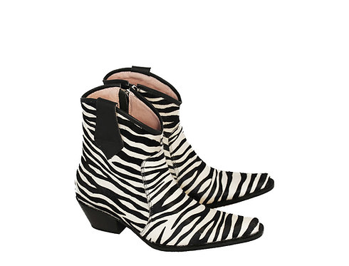 Zebra Design Embossed Calf Hair Leather - ANK Cowboys