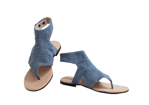 Denim - Gladiator Sandals