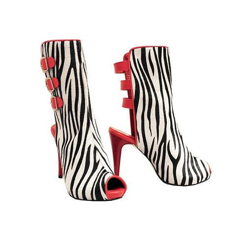 Zebra Print Calf Hair - MC Stiletto