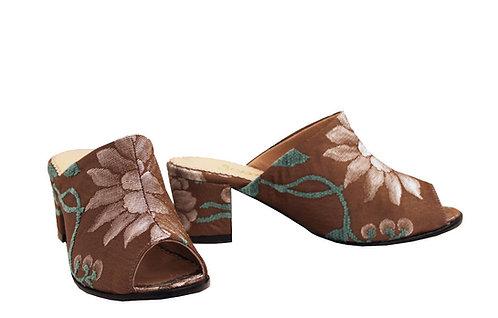Tan Garden - Mule Sandals