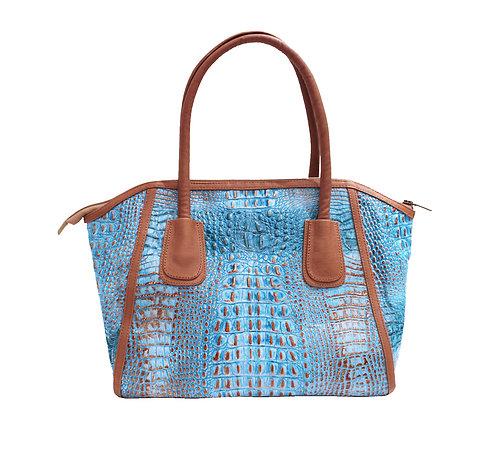 Turquoise Python Handbag