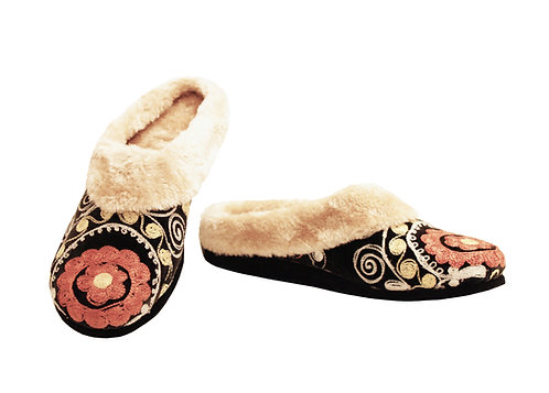 One of a Kind Suzani Uptown - Clog Slippers