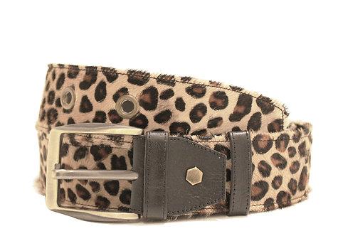 Calf Hair Leopard Adjustable Jean Belt