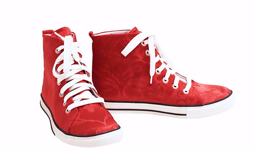 Red Damask - High Top Sneaker