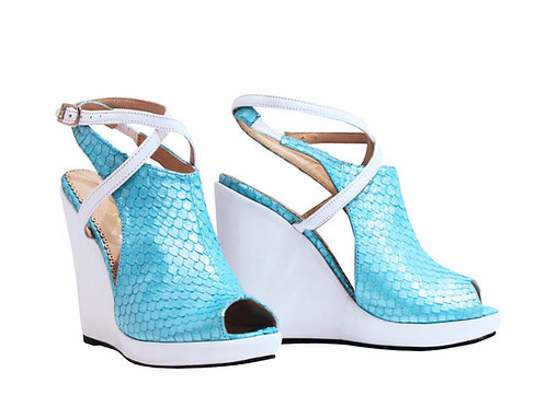 Blue Fish Leather - Urban Wedge