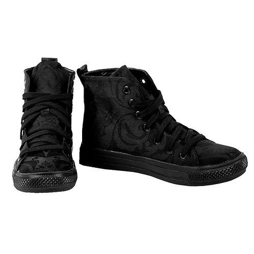 Black Damask - High Top Sneaker