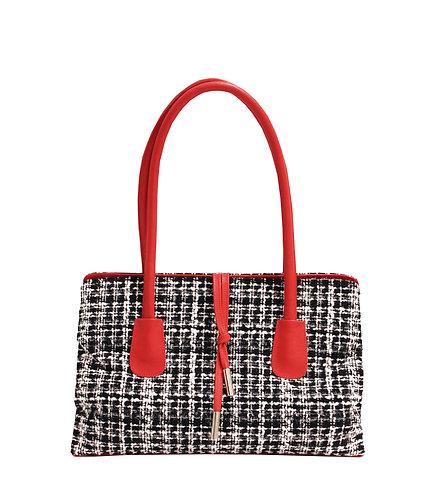 Black White and Red Retro Handbag