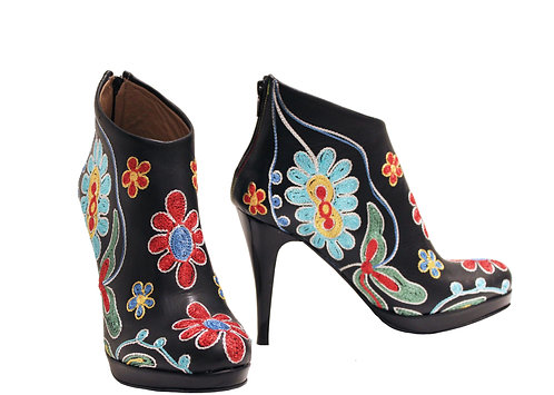 Leather Embroidered - ANK Stiletto