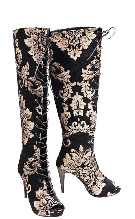 Khaleesi Lace Up Front - OTK Stiletto