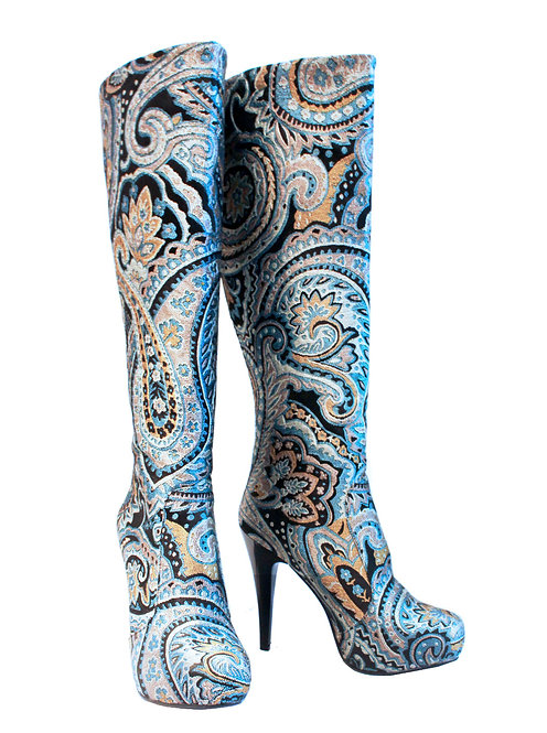 Blue Paisley - Stiletto