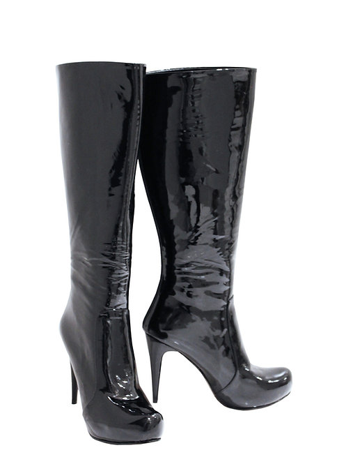 Black Patent Leather - Stiletto