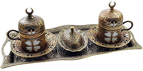 Turkish Coffee Set of 2 - Brass
