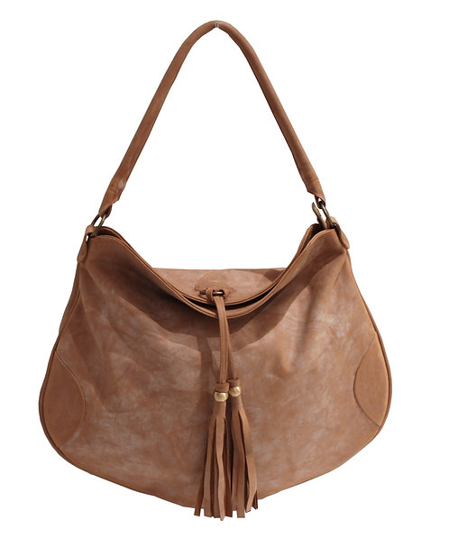 Derby Waxed Leather Hobo Bag
