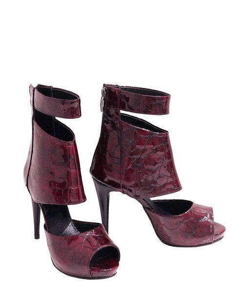 Deep Bordeoux Patent Leather - ANK Stiletto