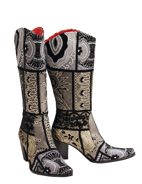 Black Zari Red Leather - Cowboys