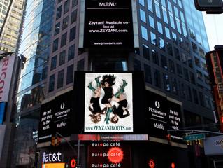 Zeyzani Blue in Times Square