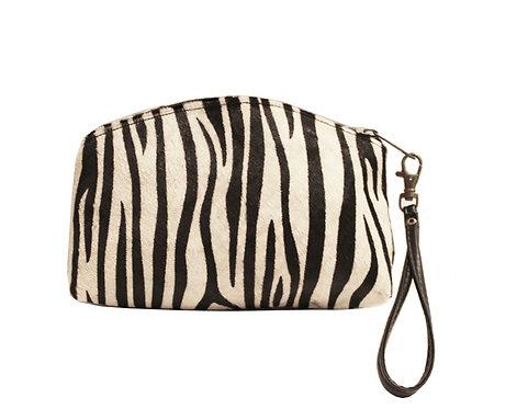 Zebra Calf Hair  Clutch/Wristlet
