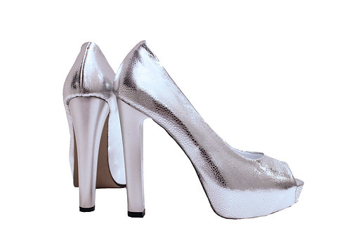Silver Leather - Pumps