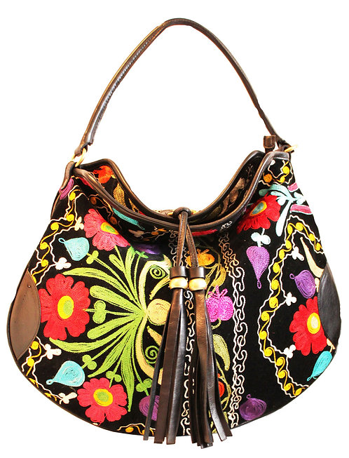 One of a kind Suzani Hobo Bag