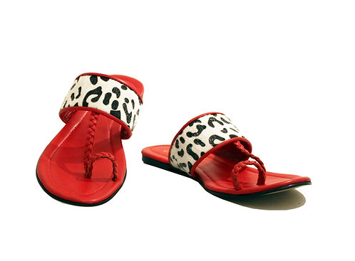 Red Leather - Sandals