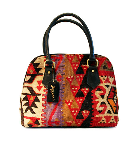 Kilim Leather Handbag