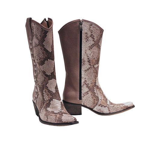 Taupe Leather Python - Cowboys