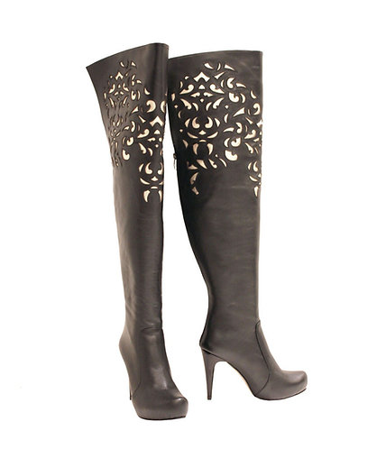 Black and Gold Leather - TH Stiletto
