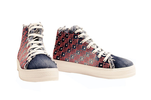 Denim Pink - High Top Sneakers