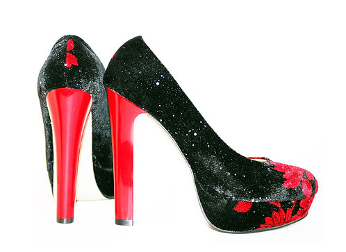Red Blossom - Pumps