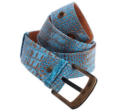Leather Python Adjustable Jean Belt