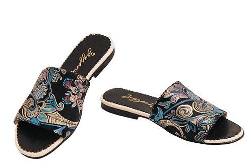 Blue Dream Italian Silk Leather - Sandals