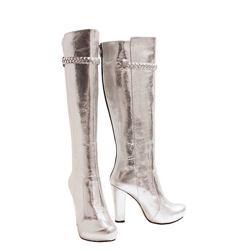 Silver Leather - Chunky