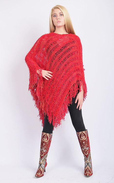 Hand-knit Poncho