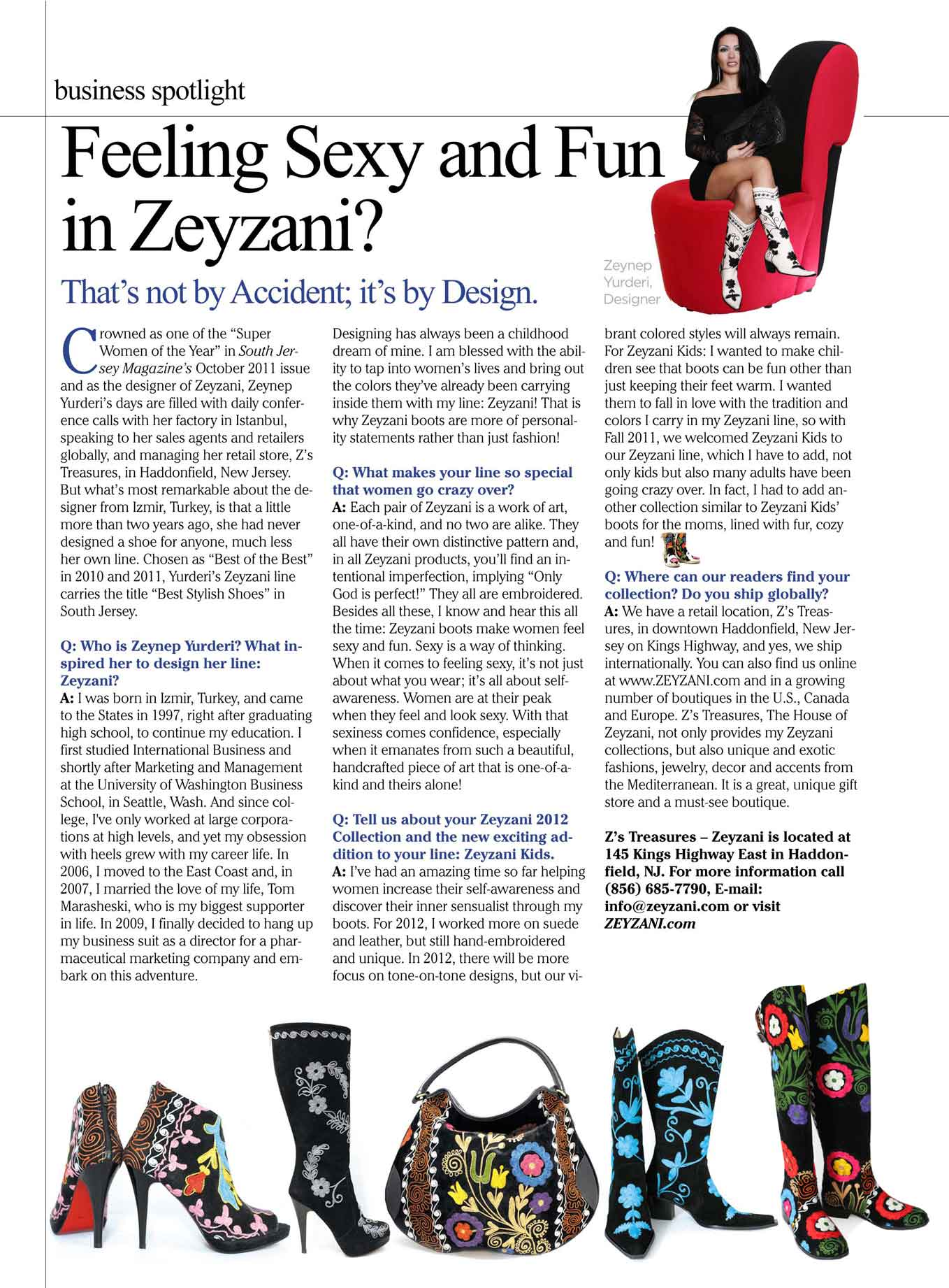 "Zeyzani on ""Business Spotlight"""